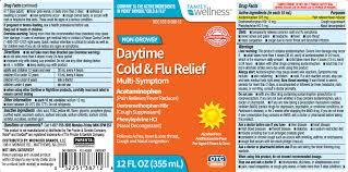 Daytime Cold And Flu Multi Symptom Relief Liquid Family