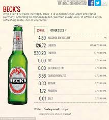 Beck S Premier Light Price How Many Calories Are In Your Favourite Beer Stella Becks