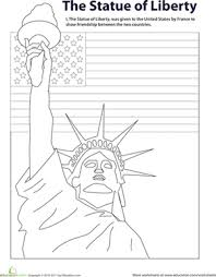 Small Picture Color the Statue of Liberty Worksheets Symbols and Liberty