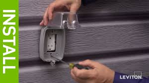 leviton presents how to install a weather resistant gfci outlet leviton presents how to install a weather resistant gfci outlet weather resistant cover