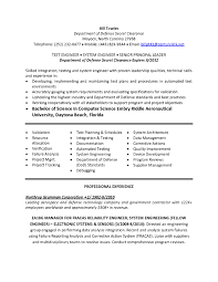 Systems Engineer Resume Examples Free Resume Templates