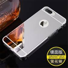 mirror iphone 7 plus case. metal frame mirror back cover case for apple iphone 7 plus (silver) iphone u