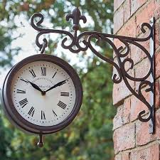 york station thermometer wall clock
