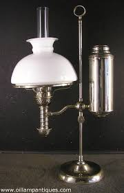 manhattan nickel student antique oil lamp kerosene lamp