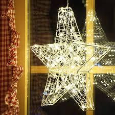 B Ware Weihnachtsstern 38 Cm 80 Led Draht Stern Einzelne Led Blinken