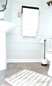 farmhouse style bathroom rugs farmhouse powder room sign style makeover f a r m h o u s e rug fixed 1