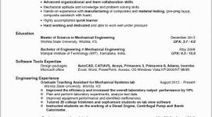 Mechanical Engineering Resume Examples Free Download