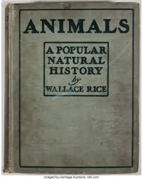 Wallace Rice. Animals: A Popular Natural History of Wild Beasts. | Lot  #94217 | Heritage Auctions