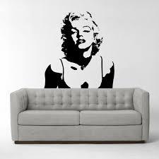 Marilyn Monroe Bedroom Accessories Marilyn Monroe Vinyl Wall Sticker Iconic Wall Sticker Wall