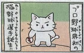 「猫ピッチャー 画像」の画像検索結果