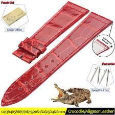 <b>ZLIMSN</b> NEW Genuine <b>Alligator Leather</b> Luxury Band <b>Crocodile</b> ...
