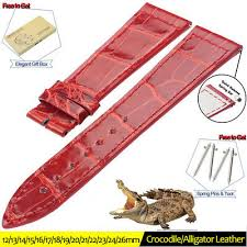 <b>ZLIMSN NEW Genuine Alligator</b> Leather Luxury Band Crocodile ...