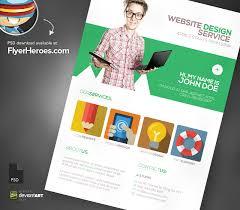 Web Design Brochure Template Psd Brochure Style Website Template Web