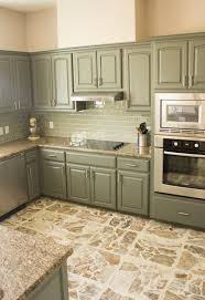 green painted kitchen cabinets. Beautiful Painted Painted Her Boring Building Grade Golden Cabinets To This Pretty Color Intended Green Kitchen Cabinets A