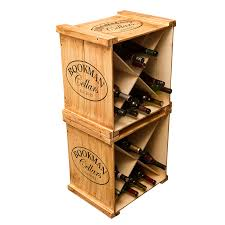 Personalized Wine Crate Rack