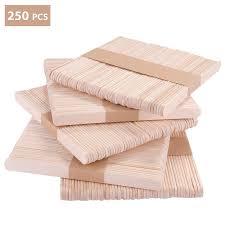 Kateluo 250 Stücke Eisstieleeisstiele Au Sholzholzstieleholzstäbchen Für Eis Am Und Basteln Diy Handwerk