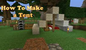 How To Make A Tent How To Make A Tent And Campfire In Minecraft Youtube