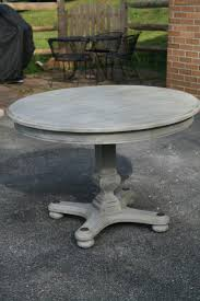 Primitive  Proper Weathered Paris Gray Dining Table Using Briwax - Distressed dining room table and chairs