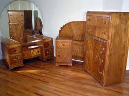 Captivating WATERFALL STYLE FURNITURE | Waterfall Bedroom Set 1930 40