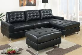 architecture lovely black leather sectional sofa 17