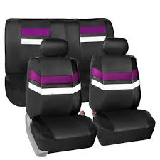 purple pu leather car seat covers front rear full set synthetic leather auto 0