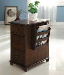 Side Cabinets For Living Room Furniture Of America Zenners Dark Walnut Side Table With Storage