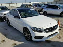 Salvage 2016 Mercedes Benz C450 4matic Amg Sedan For Sale Salvage Title Dream Cars Mercedes Mercedes Benz Cars Mercedes Benz