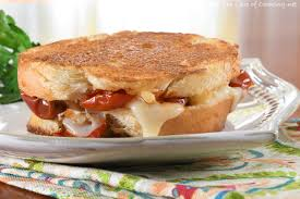 gruyere slow roasted tomato and caramelized onion grilled cheese