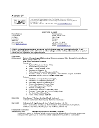 Amusing Hobbies In Resume For Mba About Sample Cv With Hobbies And