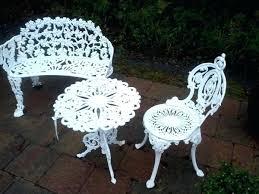 White Wrought Iron Garden Bench Fantastic Antique Wrought Iron Patio