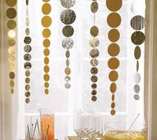diy paper decorations. shimmering streamers diy paper decorations