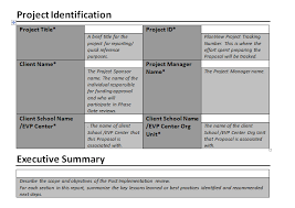 Post Implementation Report Download For Complete Project Management