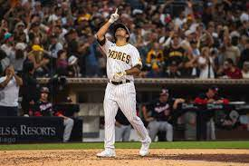 Padres reliever Daniel Camarena hit a ...