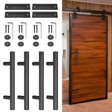 4x 12 sliding barn door pull flush handle gate shed hardware set heavy duty cast