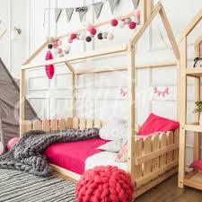 Children bed TWIN size Montessori bed Floor bed Children crib | Etsy