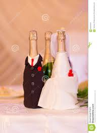 Champagne Bottle Decoration Champagne Bottles Decoration For Wedding Day Stock Photo Image