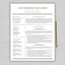 Love This Elegant Teacher Editable Resume Template With Gold Accents