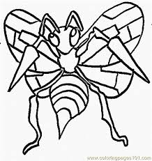 Small Picture Bug Pokemon Coloring Page Free Bug Pokemon Coloring Pages
