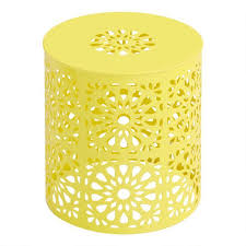 soleil yellow perforated outdoor accent