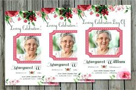 Memorial Card Template Funeral Announcement Card Template Natural Glow Obituary Free