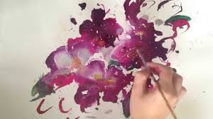 sd abstract flower painting demo