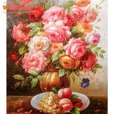 2019 WELLCOLOR Pink <b>Peony</b> Flowers Pattern Rhinestone DIY <b>5D</b> ...