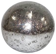 metallic silver mercury glass sphere ball