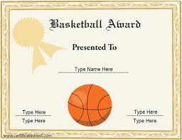 award certificates template basketball award certificate templates oyle kalakaari co