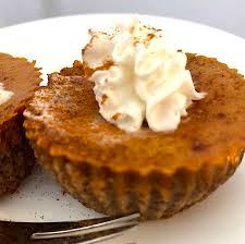 mini pumpkin pies with a pecan crust