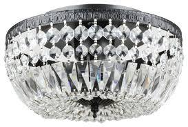 mina rae 3 light crystal basket flush mount