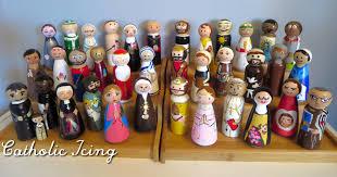 catholic saint peg dolls