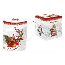 <b>Кружка</b> NUOVA R2S Дед Мороз в санях, <b>0.3</b>л (<b>белая</b>) — купить в ...