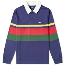 homestussy lucas stripe rugby shirt image