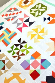 27 best Modern Quilting images on Pinterest   Modern quilting ... & Finished TBT Modern Quilt Top - links to tutorials for each block on the  blog! Adamdwight.com